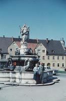 Brunnen in Wasserburg am Inn, um 1960 HRath/Timeline Images