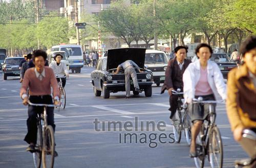 Autopanne in Peking, 1988 Raigro/Timeline Images