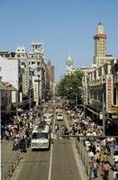 Bell Towers und Nanjing Road in Shanghai Raigro/Timeline Images