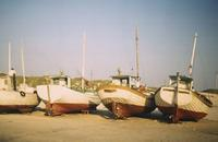 Boote am Strand in Hirtshals, 1966 HRath/Timeline Images