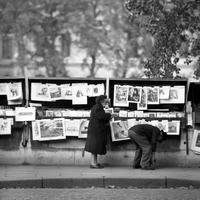 Bouquinistes in Paris, 1967 Juergen/Timeline Images