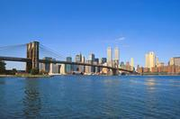 Brooklyn Bridge und Manhattan Skyline, 1992 Raigro/Timeline Images
