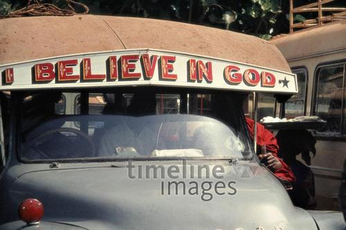 Bus in Kumasi, 1971 Czychowski/Timeline Images