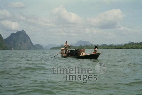 Fischerboot vor James Bond Island, 1978 Czychowski/Timeline Images