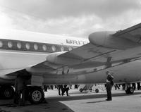 Flugzeug von British European Airways in Farnborough, 1964 Juergen/Timeline Images