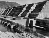 Fundament des Grand Coulee-Staudammes, 1937 Timeline Classics/Timeline Images