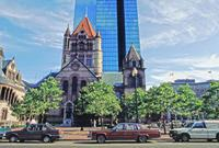 Hancock Tower und Trinity Church in Boston, 1992 Raigro/Timeline Images