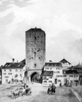 Isartor in München, 1820 Timeline Classics/Timeline Images