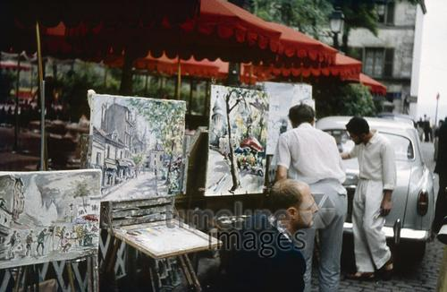 Künstler in Montmatre in Paris, 1959 HRath/Timeline Images