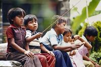 Kinder in Ocotepec, 1975 hwh089/Timeline Images