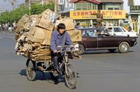 Lastfahrrad in Peking, China, 1988 Raigro/Timeline Images