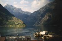 Meroks Hotel am Geirangerfjord in Norwegen, 1966 HRath/Timeline Images