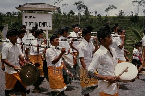 Musikkapelle in Bali, 1979 Czychowski/Timeline Images