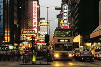 Nathan Road im Distrikt Kowloon in Hongkong, China, 1988 Raigro/Timeline Images