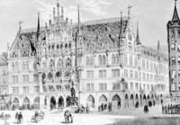 Neues Rathaus in München, 1872 Timeline Classics/Timeline Images