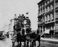 New York - Pferde-Omnibus in der 5th Avenue ullstein bild - Philipp Kester/Timeline Images
