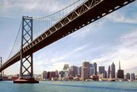 Oakland Bay Bridge und die Skyline von San Francisco, 1992 Raigro/Timeline Images