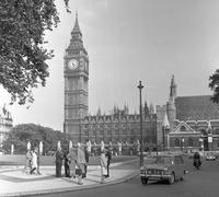 Palace of Westminster in London, 1964 Juergen/Timeline Images