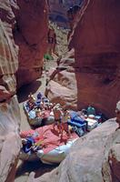 River Rafting Gruppe in einem Seitencanyon des Colorado River, 1993 Raigro/Timeline Images