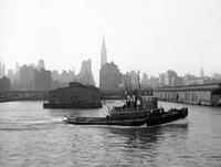 Schlepper auf dem Hudson River in New York, 1962 Jürgen Wagner/Timeline Images