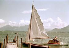 Segelboot am Chiemsee, 1955 Dillo/Timeline Images