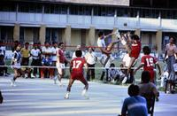 Sepak-Takraw-Spiel in Malaysia, 1985 hwh089/Timeline Images