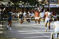 Sepak Takraw-Spieler in Malaysia, 1985 hwh089/Timeline Images