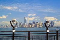Skyline von Downtown Manhattan, 1992 Raigro/Timeline Images