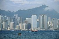 Skyline von Hongkong, China, 1988 Raigro/Timeline Images