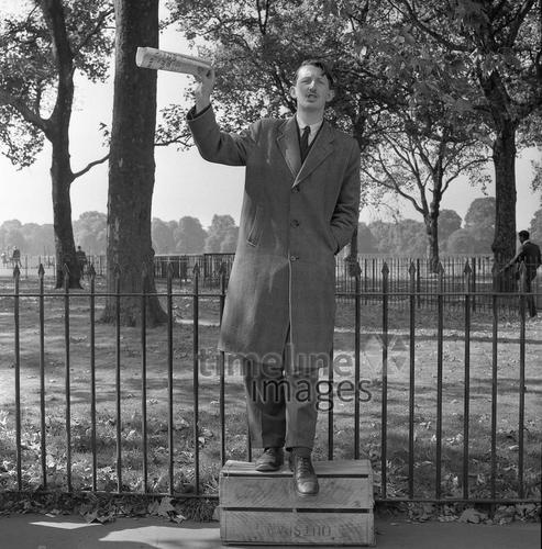Speakers' Corner im Hyde Park in London, 1964 Juergen/Timeline Images