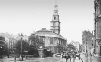 St. Clements Danes-Kirche in London, 1912 Timeline Classics/Timeline Images
