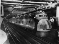 Stromlinienzug der Union Pacific Corporation in New York, 1934 Timeline Classics/Timeline Images