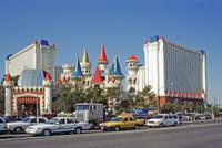 The Strip und Excalibur in Las Vegas, 1993 Raigro/Timeline Images