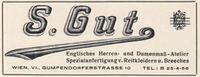 Werbeanzeige S. Gut United Archives / Wittmann/Timeline Images