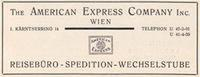 "Werbeanzeige ""The American Express Company"" United Archives / Wittmann/Timeline Images"
