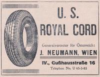 Werbeanzeige U.S. Royal Court Reifen United Archives / Wittmann/Timeline Images