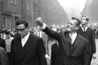 Willy Brandt während einer Demonstration, 1962 Hermann Schröer/Timeline Images