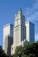 World Trade Center und Woolworth Building, 1992 Raigro/Timeline Images