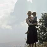 Mutter mit Tochter vor Schlern