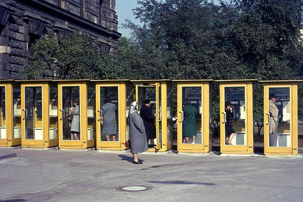 Telefonzellen am Maximiliansplatz, 1968